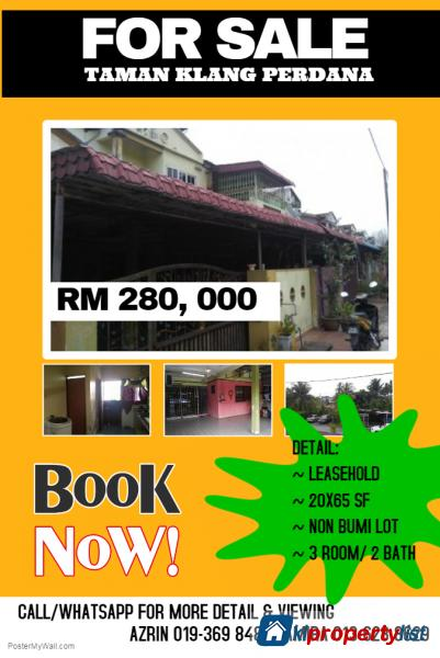 Picture of 3 bedroom 1.5-sty Terrace/Link House for sale in Klang