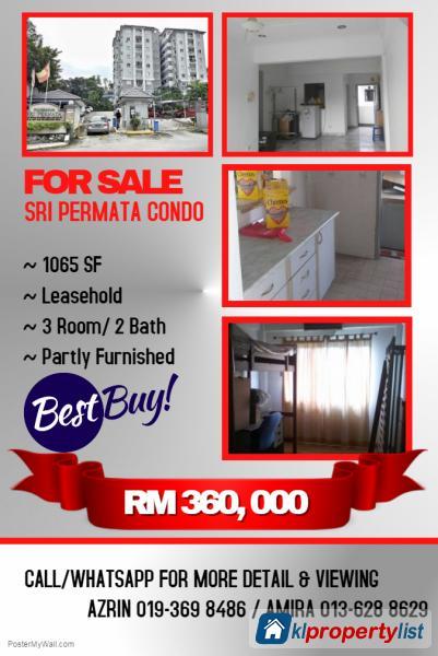 Picture of 3 bedroom Condominium for sale in Shah Alam