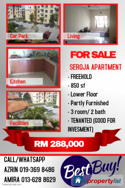 Picture of 3 bedroom Apartment for sale in Shah Alam