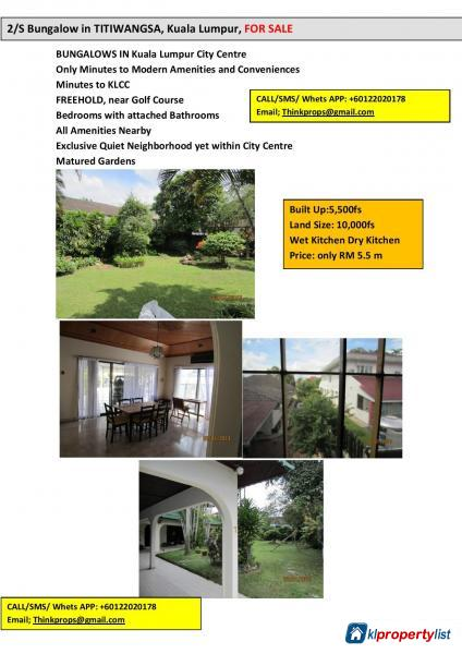 Picture of 5 bedroom Bungalow for sale in KL City